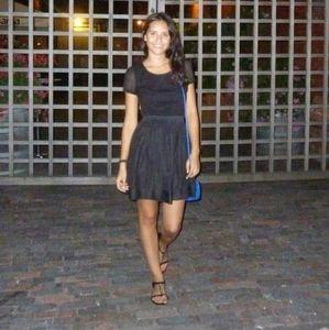 UO Black Eyelet Lace Skater Dress